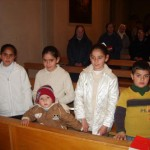 Children at Mass in Taybeh