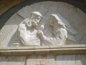 Jesus Meets His Mother--Via Dolorosa Jerusalem